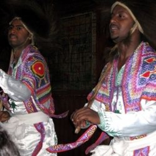 Ethiopian Dancing at Fasika Restaurant in Addis Ababa