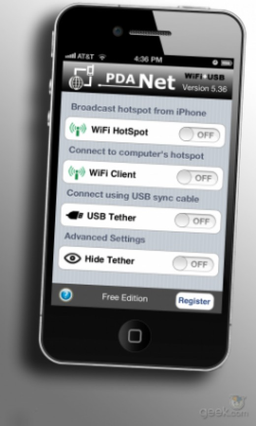tether iphone to laptop