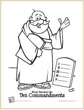 Ten Commandments | Bible Coloring Page