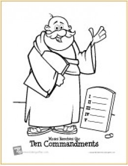Ten Commandments | Bible Coloring Page