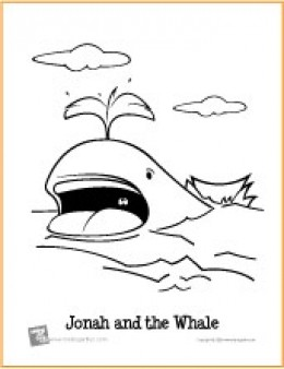 Jonah and the Whale | Bible Coloring Page