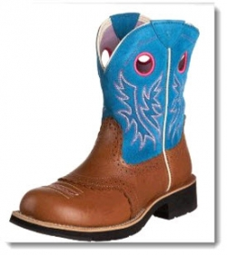 Ariat Fatbaby Cowgirl Boot - Trigger/Caribbean Blue