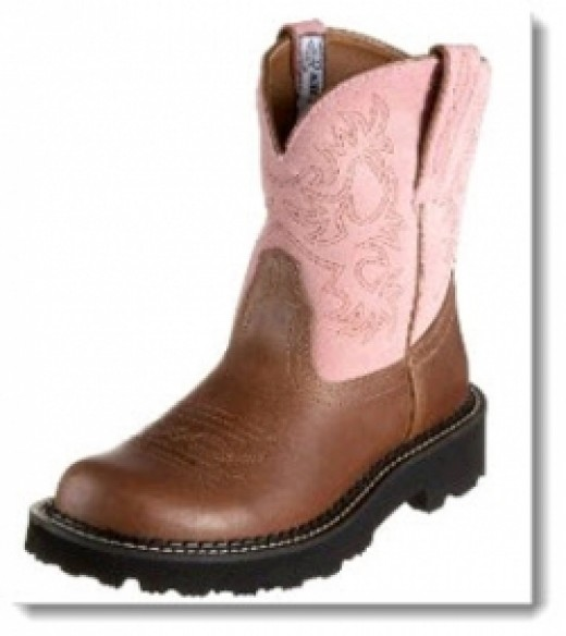 Women's Ariat Fatbaby Boot - Tan/Rebel-Pink