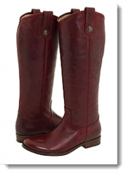 Frye Melissa Button Boot - Bordeaux Vintage Leather