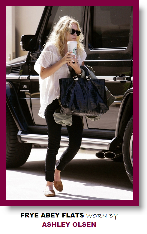 Frye Abey Flats Worn By Ashley Olsen