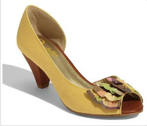 Seychelles Amethyst Peep Toe Pump In Yellow