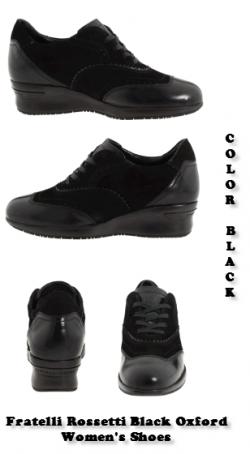 Fratelli Rossetti Oxford Women's Shoes - Black