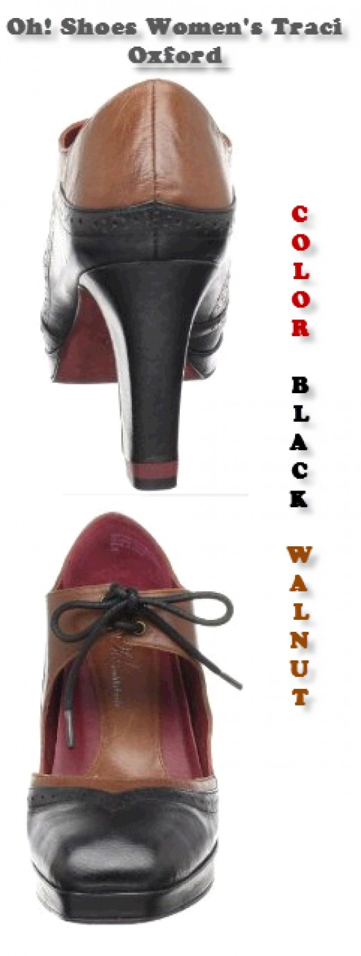 Oh! Shoes Tracy Black Oxford Women's Shoes - Colors