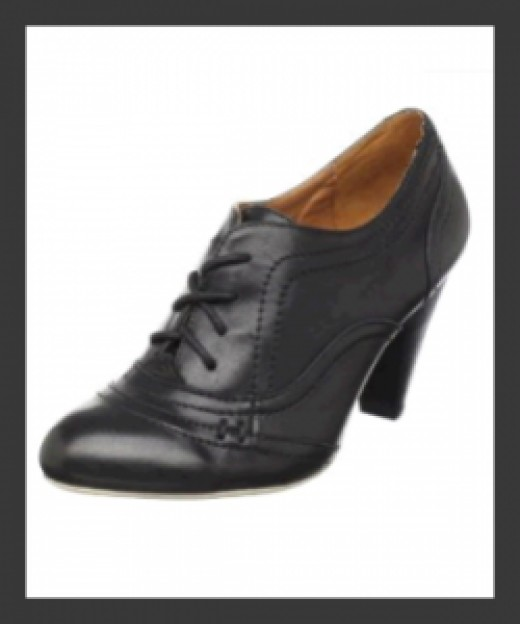 RJ Girl Beliuma Black Oxford Women's Shoes