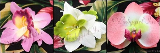 Exotic Orchid Hair Clips