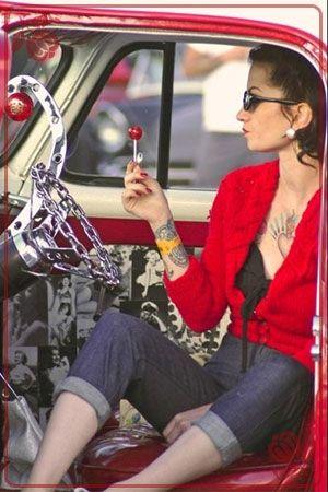 Hot Rod Kustom Kulture Greaser Girl Pinup Model