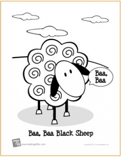 baa baa black sheep coloring page
