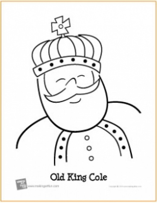 old king cole coloring page