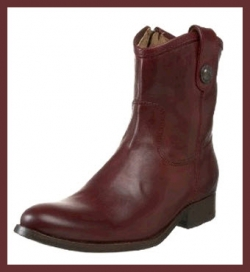 Frye Melissa Button Short Boot - Bordeaux