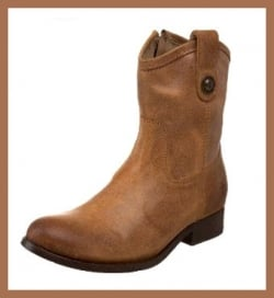 Frye Melissa Button Short Boot - Tan