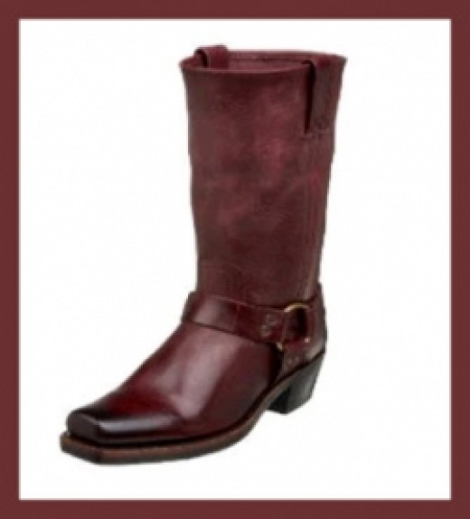 Frye Womens Motorcycle Boots - Harness Cuff Boot