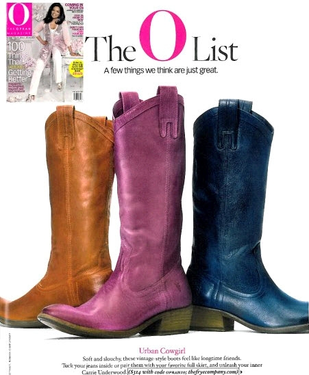 AS SEEN IN THE OPRAH MAGAZINE -FRYE -BOOTS