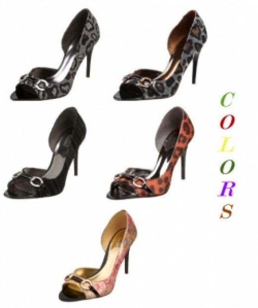 Carlos by Carlos Santana Womens Roulette Open-Toe Pump - Colors