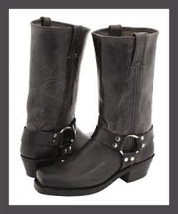 Frye Women's Harness 12R Boots - Charcoal
