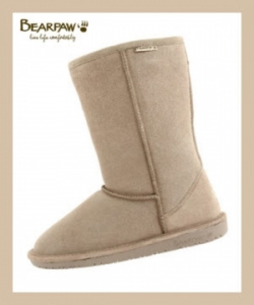 Bearpaw Emma Boots In Taupe Color