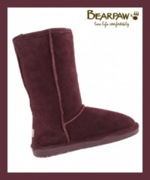 Bearpaw Emma Boots In Wine Color
