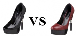 Ruthie Davis Angelina Open Toe Pump Compared To Pierced Platform Pump