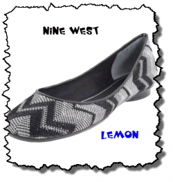 Lemon-Black Nine West Flats