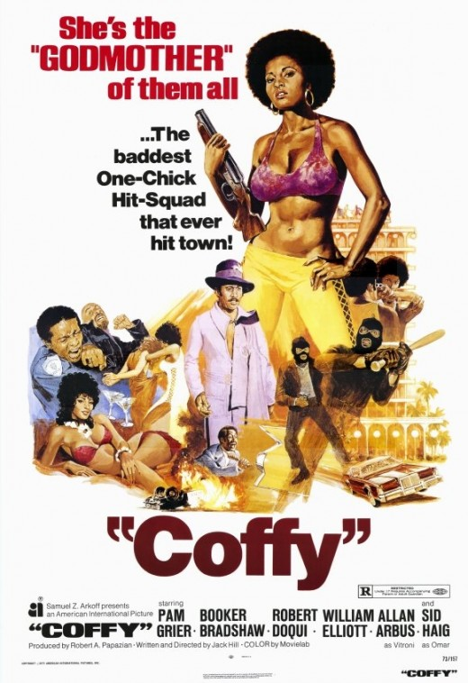 Godmother of the all. Coffy Movie Poster. Yellow pants & bikini... if you dare.