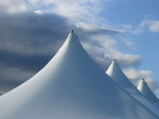 Tent Tops Against the Sky copyright:njg