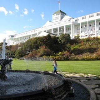 The large lawn below the hotel has a lovely fountain, more gardens, a pool and more.