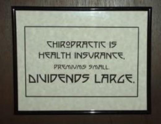 Framed B.J. Palmer Chiropractic Epigram Print Set