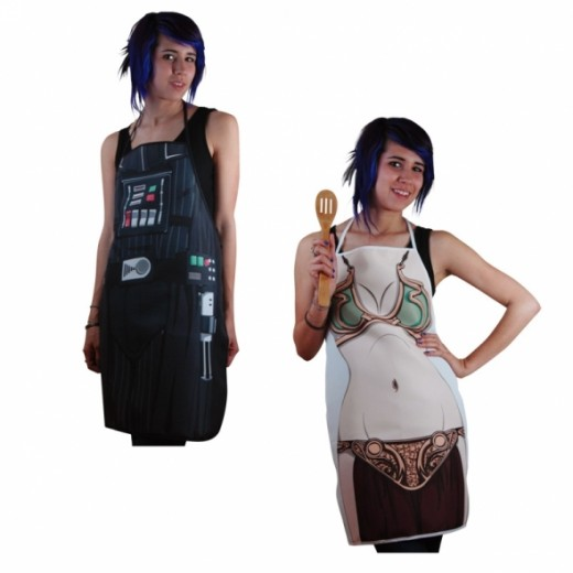 Star Wars Cooking Aprons: Darth Vader and Princess Leia (Images courtesy of StarWarsShop.com)