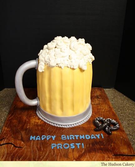Peanut butter filling in this tasty mug from http://hudsoncakery.com/2011/02/beer-mug-birthday-cake/