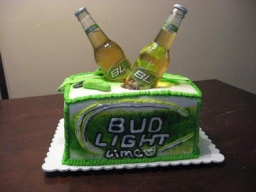 They claim that this one is easy? Fromhttp://www.easy-cake-ideas.com/beer-cake1.html