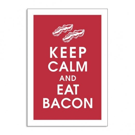 For the sophisticated Bacon Lover by KeepCalmShop on Etsy.