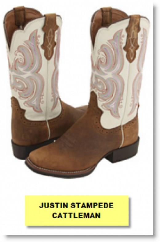 Justin Stampede Cattleman Cowboy Boot