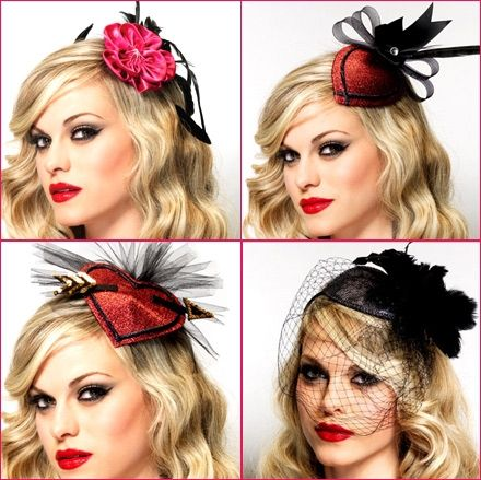 Hair fascinators add class to hair worn down or up