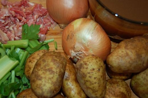 Potatoes, Corn, Onions and Celery