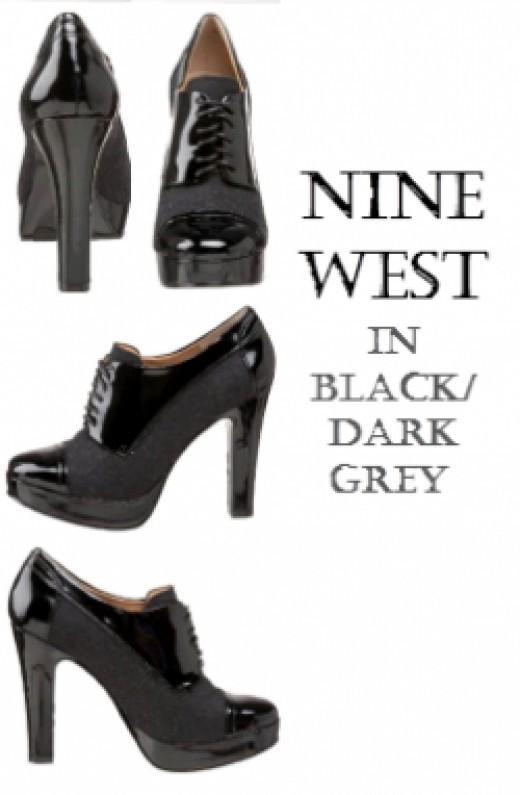 Nine West Almund Oxford Women's Shoes - Colors-BLACK