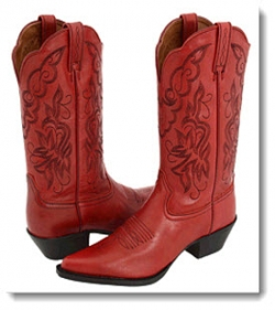 Ariat Heritage Western J Toe Red Luster