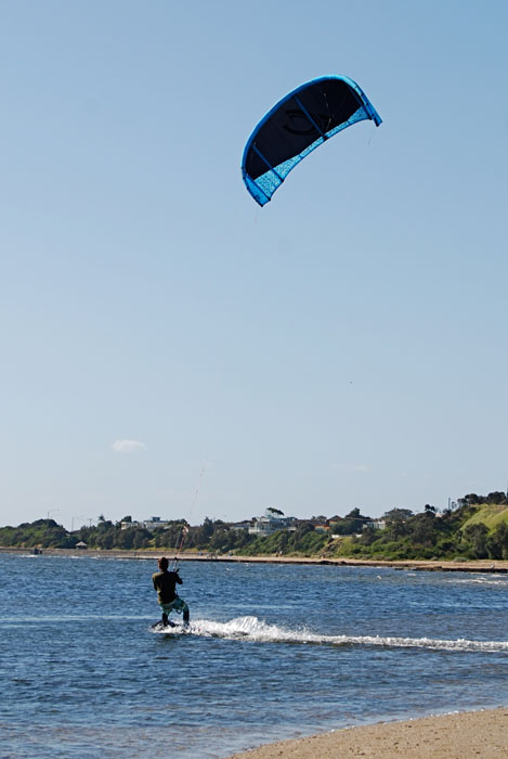 Rickett's Point is a safe beach and a haven for kite surfing