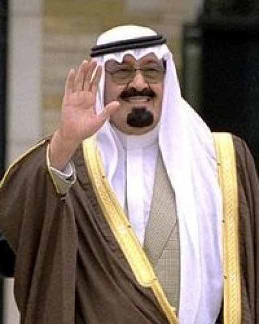 The not-slim King Abdullah of Saudi Arabia