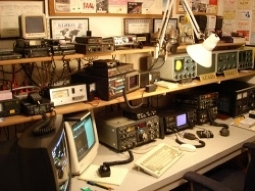 As a beginning Ham operator, you are NOT expected to have a collection of radio and test gear like this!