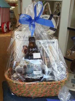 "In ""easter baskets"" for adults they usually add for instance a bottle of beer."