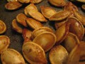 Delicious, golden brown, roasted pumpkin seeds...yum!