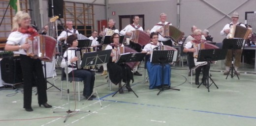 Local Accordion Music Group performing during the Cultural Program