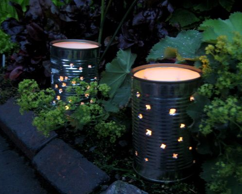 Recycled garden lighting