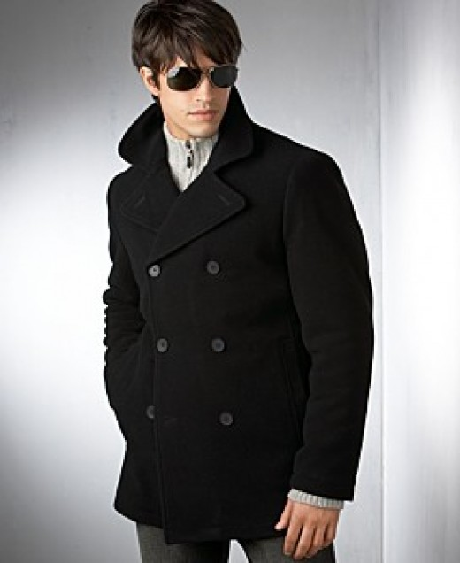 Stylish Wool PeaCoat by Kenneth Cole