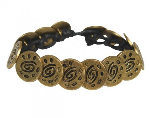 Fair-trade bracelet made from hand made metal buttons