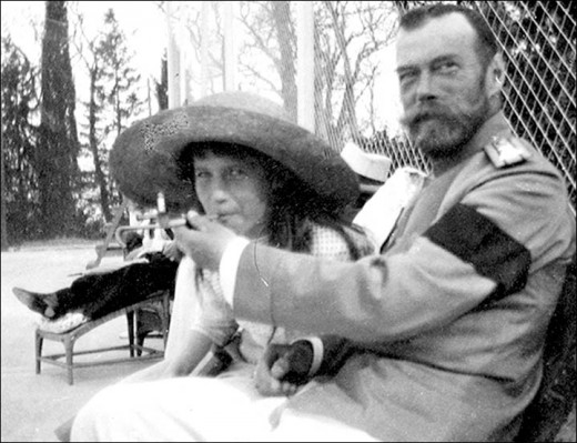 Anastasia (the very one Disney even made a film about) and her father, Czar Nicholas.
